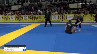 BRIDGET GRACE MCELIECE vs ELISABETH ANN CLAY 2021 Pan IBJJF Jiu-Jitsu No-Gi Championship