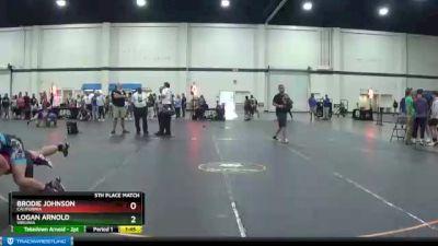 145 lbs 5th Place Match - Logan Arnold, Virginia vs Brodie Johnson, California