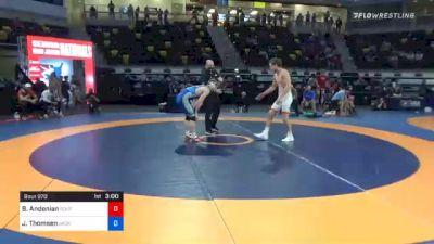 70 kg Semifinal - Bryce Andonian, Southeast Regional Training Center, Inc vs Jack Thomsen, Jackrabbit Wrestling Club