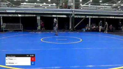 134 lbs Semifinal - Jordan Titus, Center Moriches vs Aliazer Alicea, Law/ Manheim Township Hs
