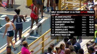 Boys' 4x100m Relay, Final - Age 15-16