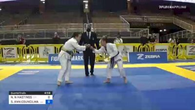 NAARAH N HASTINGS vs STACEY ANN COUNCILMAN 2020 World Master IBJJF Jiu-Jitsu Championship