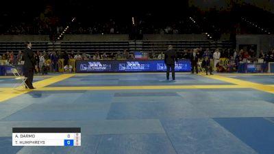 ASHUR DARMO vs TARSIS HUMPHREYS 2019 Pan Jiu-Jitsu IBJJF Championship