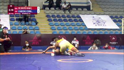 77 kg Qualif. - Joilson De Brito Ramos Junior, Brazil vs Matias Estaban Cabezas Cornejo, Chile