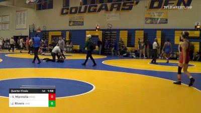 138 lbs Quarterfinal - Vincent Mannella, Woodward Academy (GA) vs Justin Rivera, Lake Highland Prep (FL)