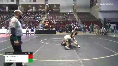 172 lbs 3rd Place - Timmy Church, Ft Leboeuf vs Ethan Barr, McGuffey