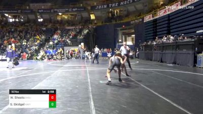 157 lbs Prelims - Wyatt Sheets, Oklahoma State vs Scout Skidgel, Navy