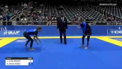 JAMIE LYNN WRIGHT vs KATHERIN ARIAS PÉREZ 2021 World IBJJF Jiu-Jitsu No-Gi Championship