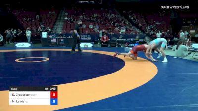 63 kg Quarters - Dylan Gregerson, Brunson UVRTC vs Mason Lewis, Pennsylvania