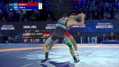 57 kg 1/2 Final - Thomas Gilman, United States vs Horst Lehr, Germany