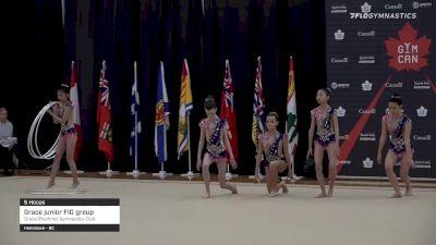 Grace junior FIG group - 5 Hoops, Grace Rhythmic Gymnastics Club