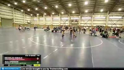 140 lbs 2nd Place Match - Gus Amerson, Newberg High School Wrestling vs Nicholas Egbalic, Gold Rush Wrestling Academy