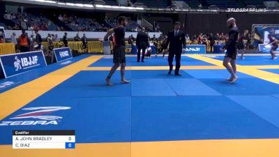 ADAM JOHN BRADLEY vs CARLOS DIAZ 2019 World IBJJF Jiu-Jitsu No-Gi Championship