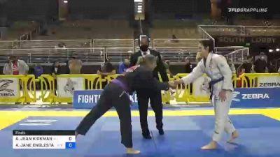 AMANDA JEAN KIRKMAN vs AMANDA JANE ENGLESTAD 2020 World Master IBJJF Jiu-Jitsu Championship