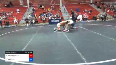 65 kg Consolation - Joshua Saunders, Spartan Combat RTC vs Chad Red, Nebraska Wrestling Training Center