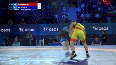 67 kg 1/8 Final - Almat Kebispayev, Kazakhstan vs Maksim Nehoda, Belarus