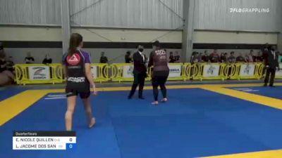 ERIN NICOLE QUILLEN vs LÍVIA JACOME DOS SANTOS 2021 Pan IBJJF Jiu-Jitsu No-Gi Championship