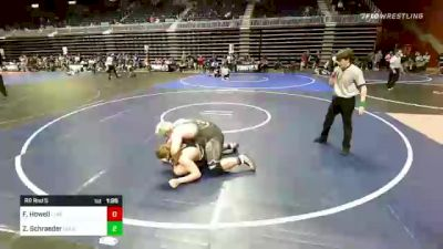 285 lbs Rr Rnd 5 - Forest Howell, Flathead Valley WC vs Zachary Schraeder, Columbine