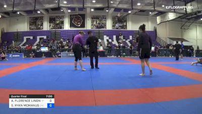 ALLISON FLORENCE LINDNER vs SAMANTHA RYAN MCMANUS 2019 Pan IBJJF Jiu-Jitsu No-Gi Championship