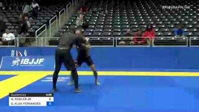 NATHANIEL FOWLER JR vs GREGORY ALAN FERNANDES 2021 World IBJJF Jiu-Jitsu No-Gi Championship