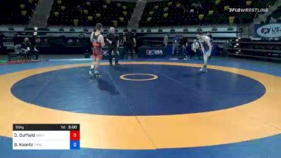 55 kg Semifinal - Dalton Duffield, Army (WCAP) vs Brady Koontz, TMWC/ Ohio Regional Training Center