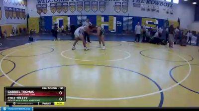 195 lbs 3rd Place Match - Gabriel Thomas, Gamblers Wrestling Club vs Cole Tolley, Sickles High School Wrestling