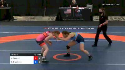 62 kg Rr Rnd 2 - Jennifer Page, Team Hildebrandt vs Emma Bruntil, Team Francis