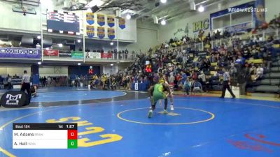 155 lbs Quarterfinal - Mitchell Adams, Brawlers WC vs Adam Hall, Penn Trafford