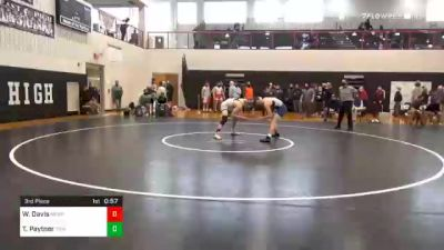 160 lbs 3rd Place - Will Davis, Newport vs Tucker Paytner, Trinity