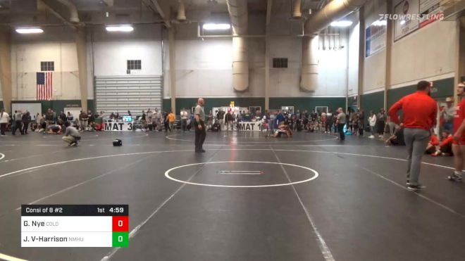 Consolation - Gavin Nye, Colorado State University - Pueblo vs Joshuah Vigil-Harrison, New Mexico Highlands