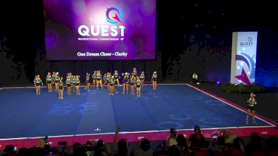 One Dream Cheer - Clarity [2020 L3 Performance Rec - Non-Affiliated (18Y - Large)] 2020 The Quest
