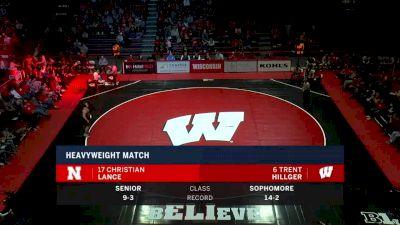 285lbs Match: Trent Hillger, Wisconsin vs Christian Lance, Nebraska