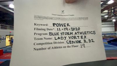 Blue Storm Athletics - Lady Vortex [L3 Senior - D2] Varsity All Star Virtual Competition Series: Event V