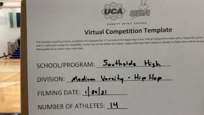 Southside High School [Varsity - Hip Hop] 2021 UDA South Spring Virtual Dance Challenge