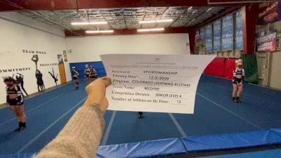 Colorado Lightning Athletics - Wildfire [Level 4 L4 Senior - D2] Varsity All Star Virtual Competition Series: Event VI
