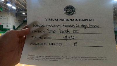 Greenup County High School [Small VA DII Virtual Finals] 2021 UCA National High School Cheerleading Championship