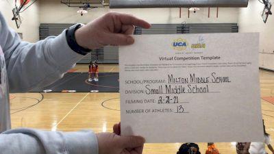Milton High School [Game Day Small Junior High] 2021 UCA February Virtual Challenge