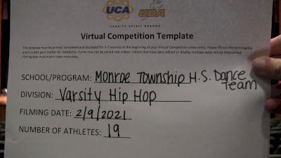 Monroe Township High School [Varsity - Hip Hop] 2021 UDA Northeast Spring Virtual Dance Challenge