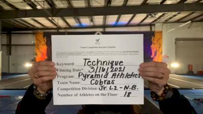 Pyramid Athletics - Cobras [L2 Junior - Non-Building] 2021 Varsity All Star Winter Virtual Competition Series: Event IV