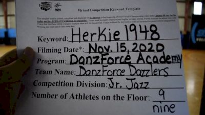 DanzForce Academy [Junior - Jazz] 2020 NDA November Virtual Championship