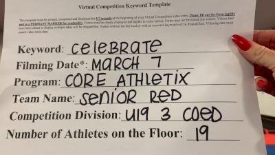 Core Athletix - Senior Red [L3 - U19 Coed] 2021 Spirit Festival Virtual Nationals