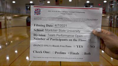 Montclair State University [Virtual Team Performance Open Finals] 2021 NCA & NDA Collegiate Cheer & Dance Championship