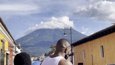 Photo Shoot In Front Of Antiguan Volcano