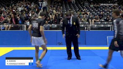 ANTIONE GIBSON vs PAULO HENRIQUE BORDIGNON MIYAO 2021 World IBJJF Jiu-Jitsu No-Gi Championship