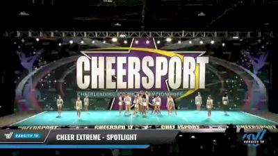 Cheer Extreme - Raleigh - SSX [2021 L4.2 Senior - Medium Day 1] 2021 CHEERSPORT National Cheerleading Championship