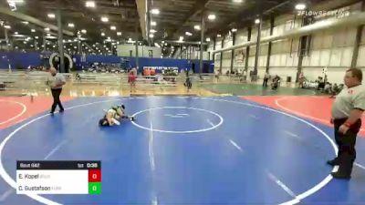 77 lbs 2nd Place - Edgar Kopel, Bold vs Case Gustafson, Florida Scorpions
