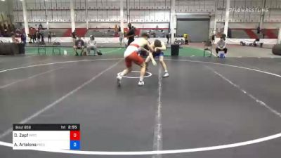 70 kg Consolation - Doug Zapf, Pennsylvania RTC vs Anthony Artalona, Pennsylvania RTC