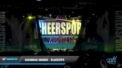 Savannah Sharks - Blacktips [2021 L2 Junior - Small - B Day 2] 2021 CHEERSPORT National Cheerleading Championship