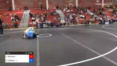 74 kg Consolation - Yo Akiyama, Texas vs Sammy Cokeley, Indiana RTC