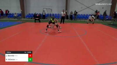 106 lbs 3rd Place - Jaydin Barreto, MoHills vs Beniamino DiCocco, Cja